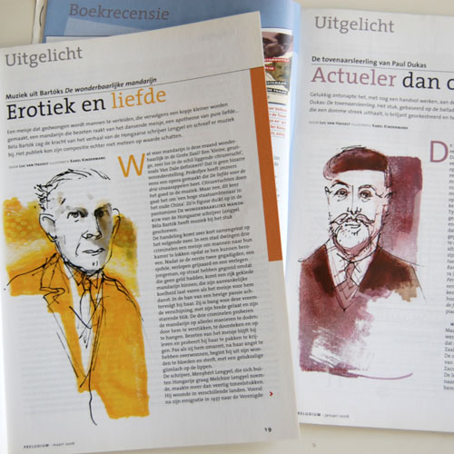 Project 'Portret-series': Bela Bartok en Paul Dukas